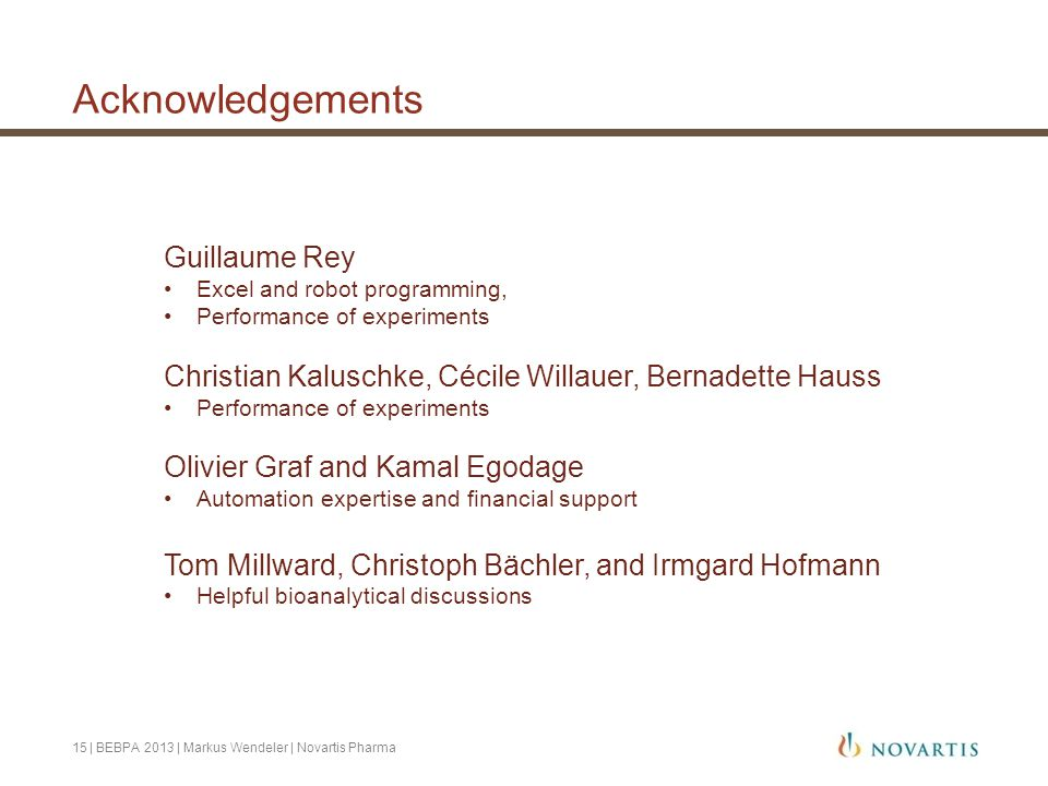 Acknowledgements Guillaume Rey