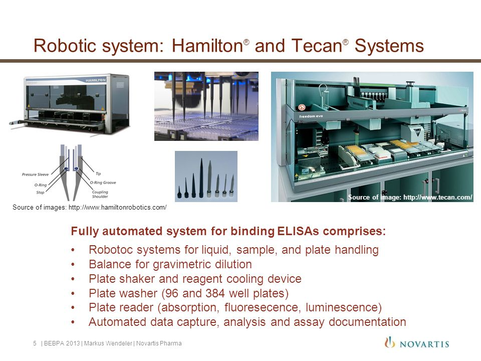 Robotic system: Hamilton® and Tecan® Systems
