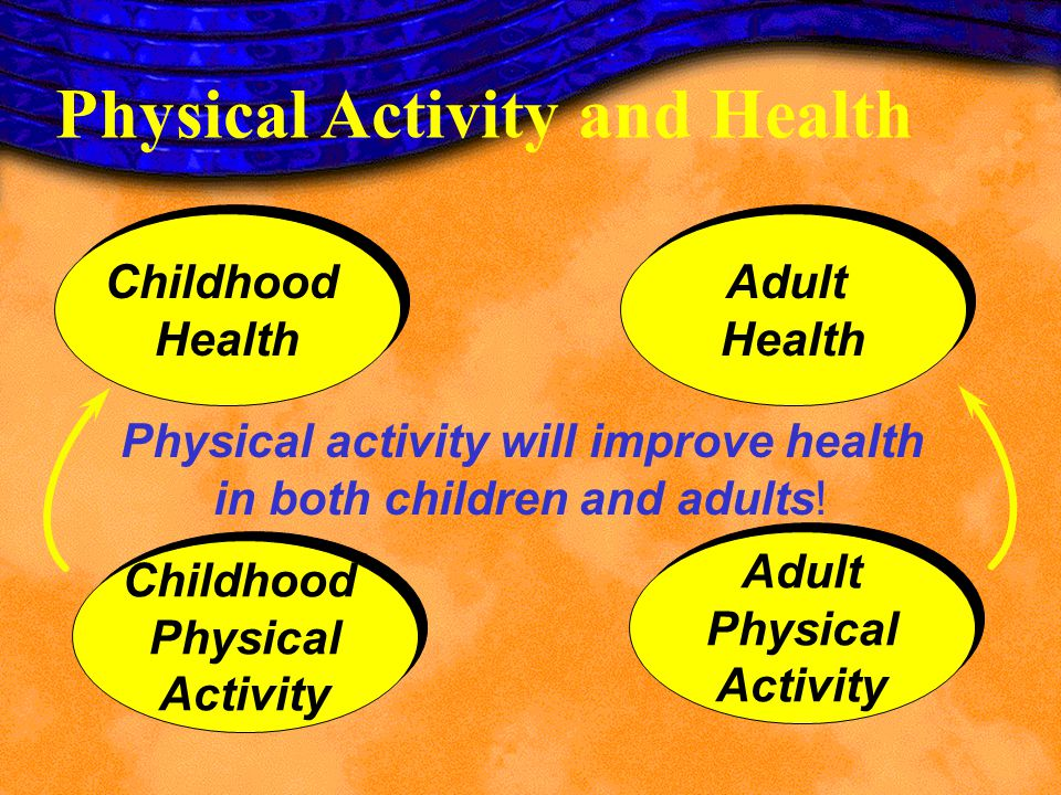 Physical activity will improve health in both children and adults!