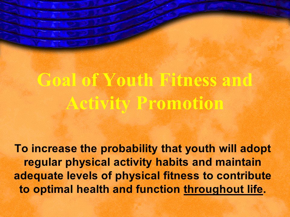 Goal of Youth Fitness and Activity Promotion