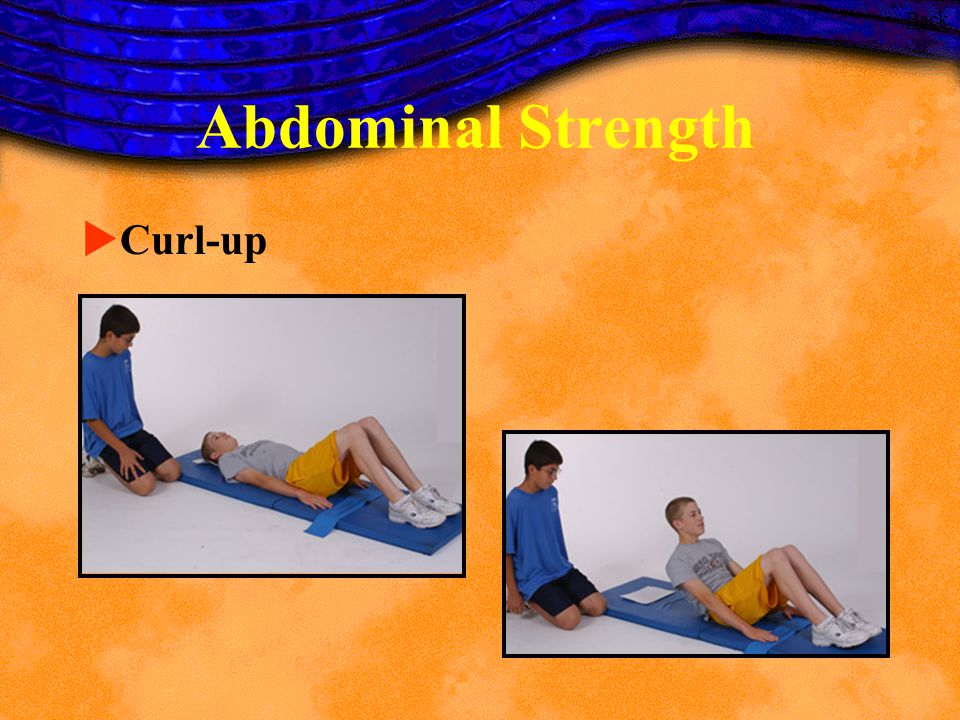 Abdominal Strength Curl-up Back