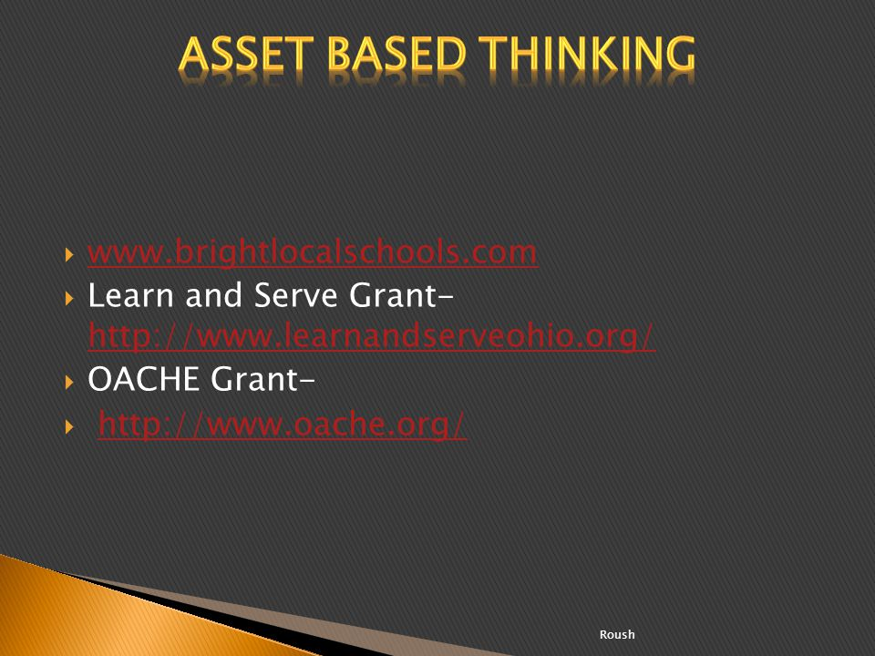 Asset Based Thinking www.brightlocalschools.com
