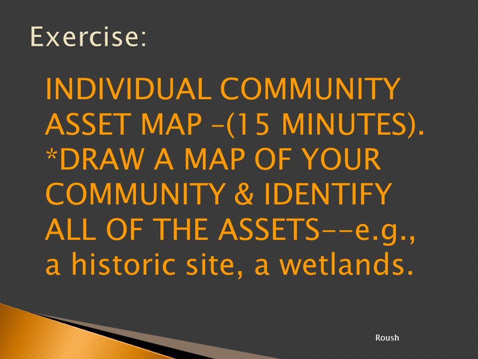 INDIVIDUAL COMMUNITY ASSET MAP –(15 MINUTES).