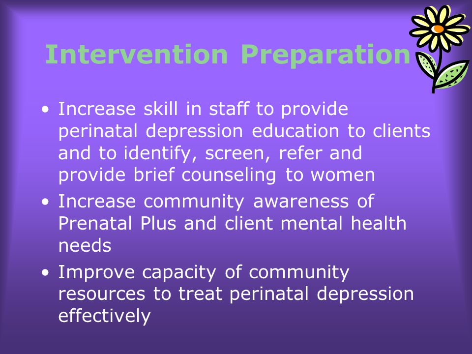 Intervention Preparation