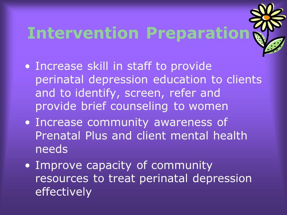 Intervention Preparation