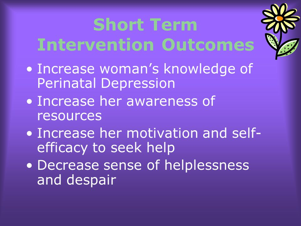 Short Term Intervention Outcomes
