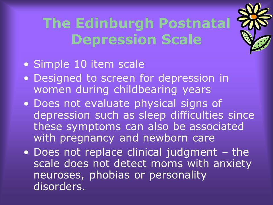 The Edinburgh Postnatal Depression Scale