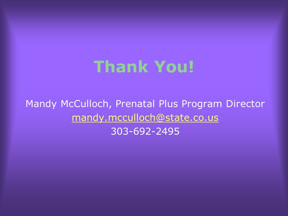 Mandy McCulloch, Prenatal Plus Program Director