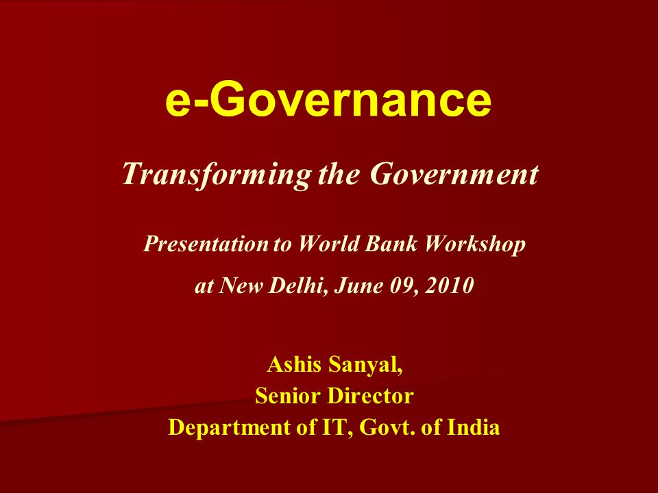 Transforming the Government