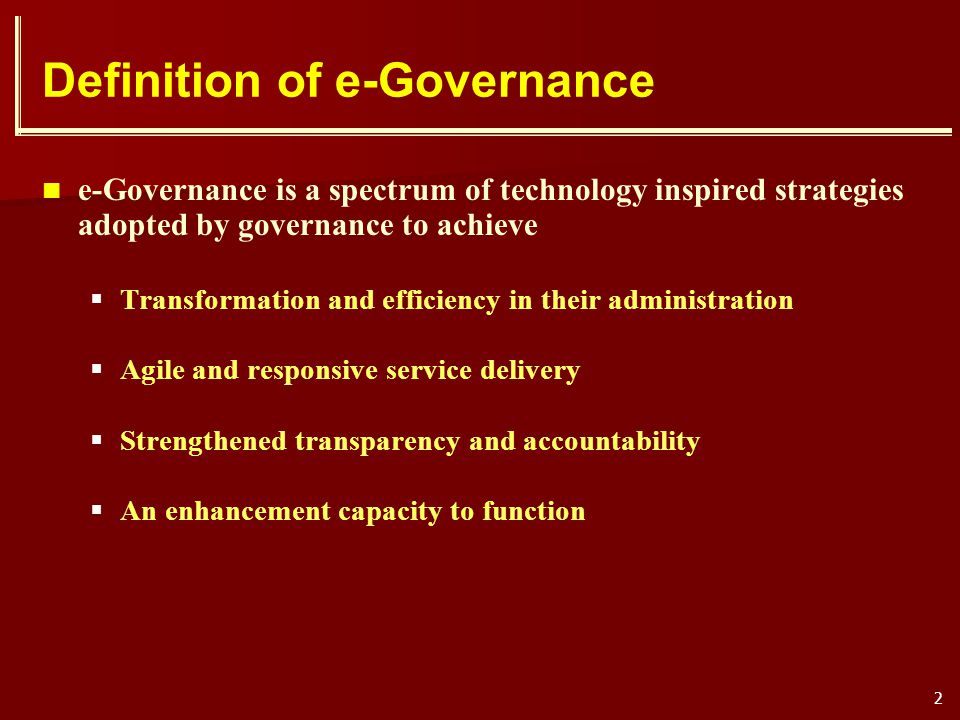 Definition of e-Governance