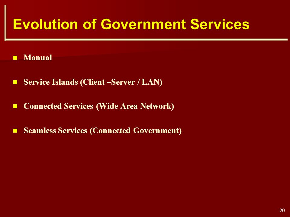 Evolution of Government Services