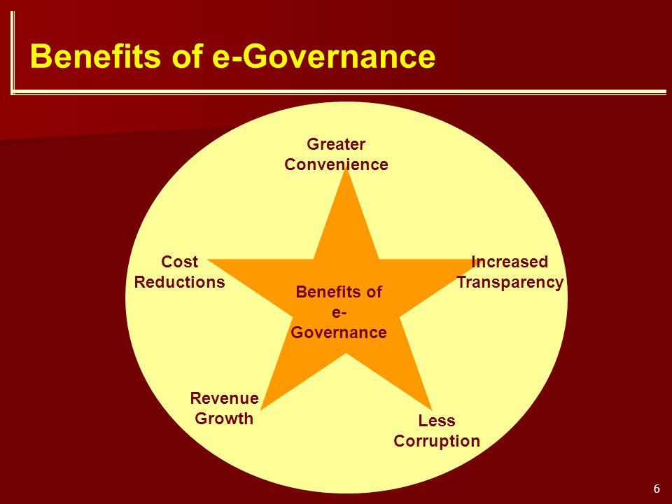 Benefits of e-Governance