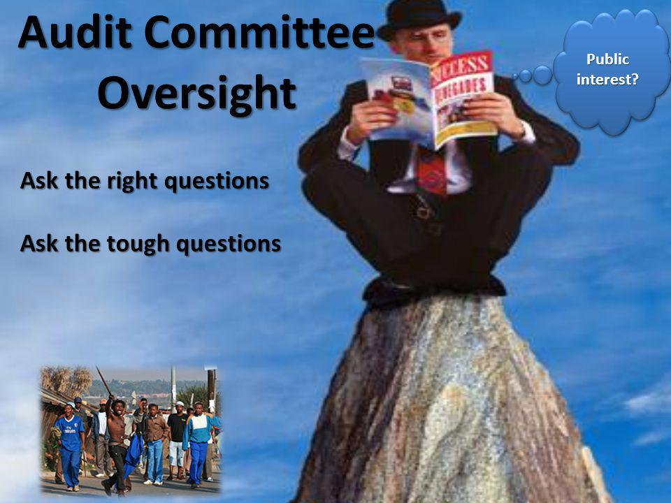 Audit Committee Oversight