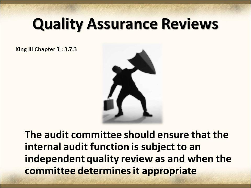 Quality Assurance Reviews