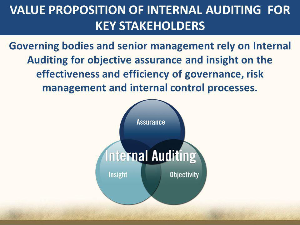 VALUE PROPOSITION OF INTERNAL AUDITING FOR KEY STAKEHOLDERS