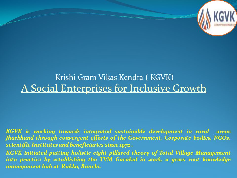 A Social Enterprises for Inclusive Growth