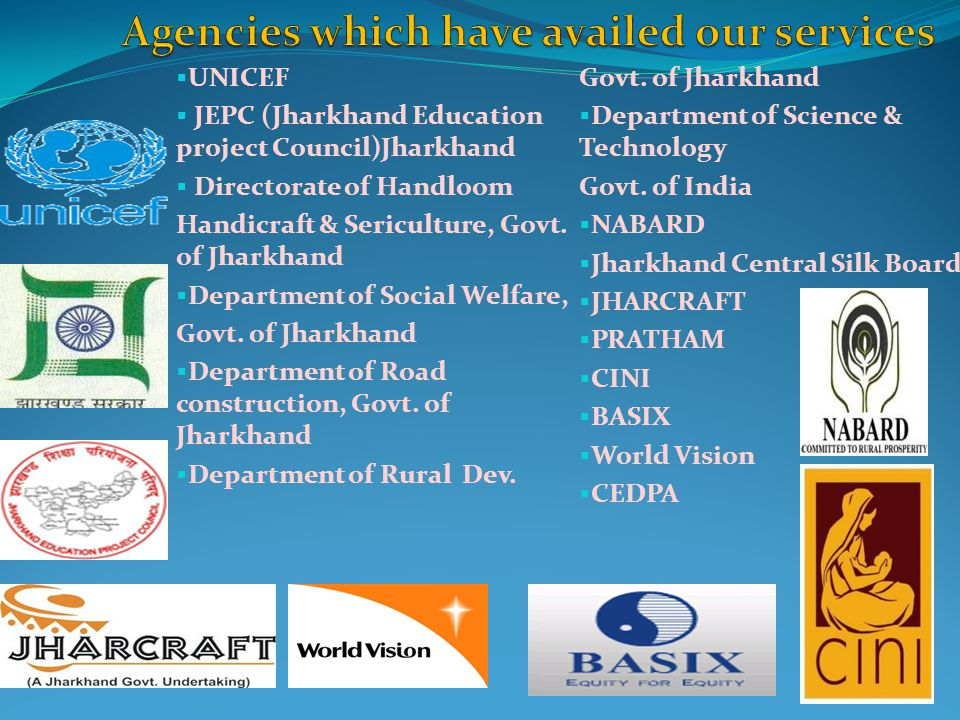 Agencies which have availed our services