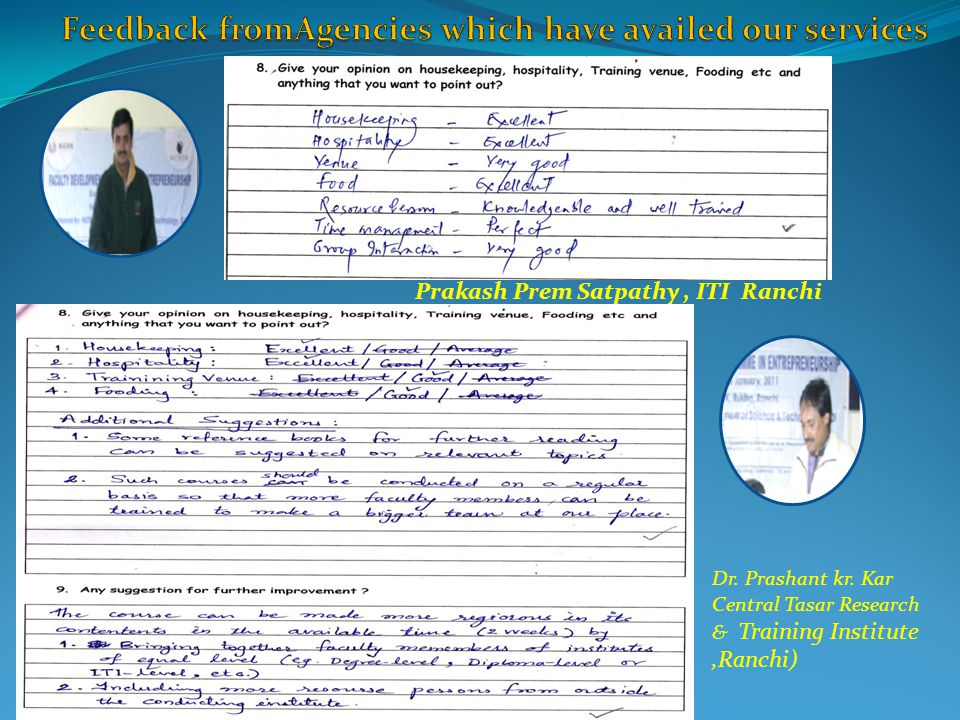 Feedback fromAgencies which have availed our services