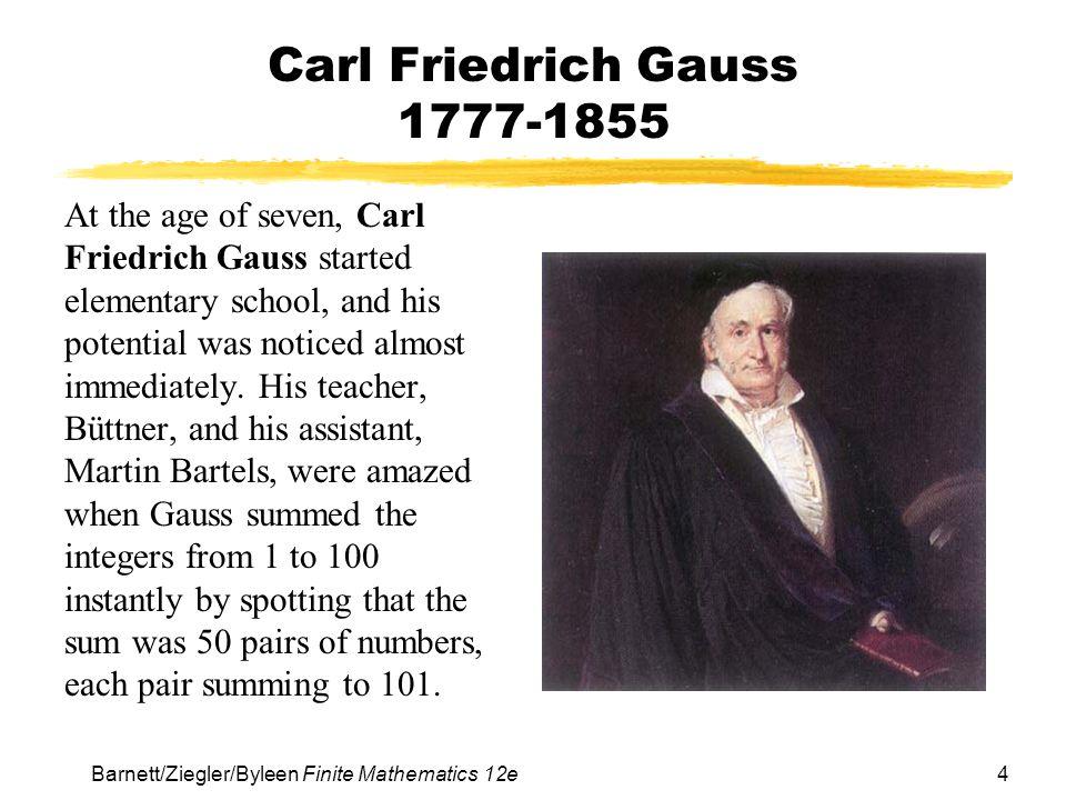 Carl Friedrich Gauss 1777-1855