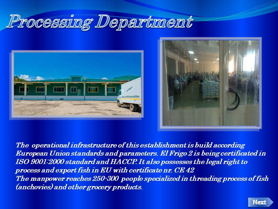Processing Department