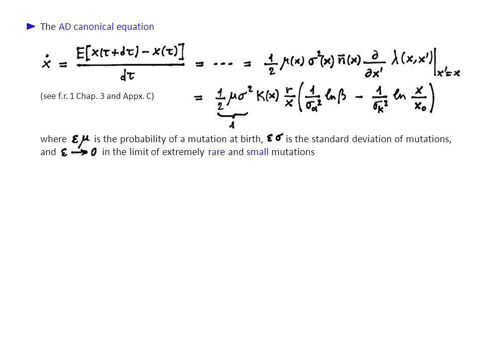 The AD canonical equation
