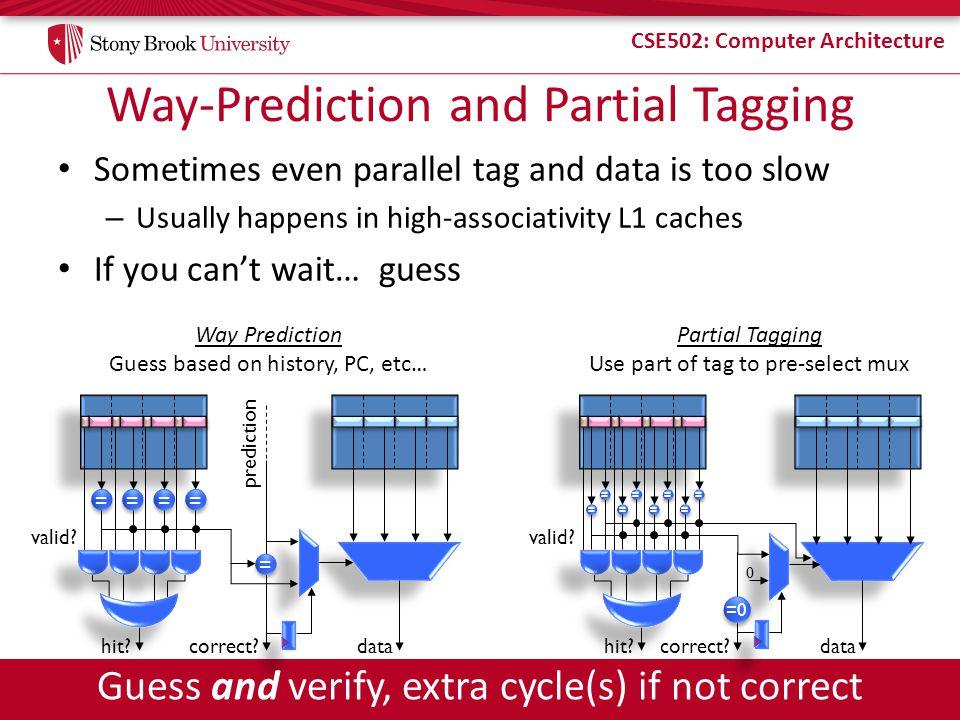 Way-Prediction and Partial Tagging