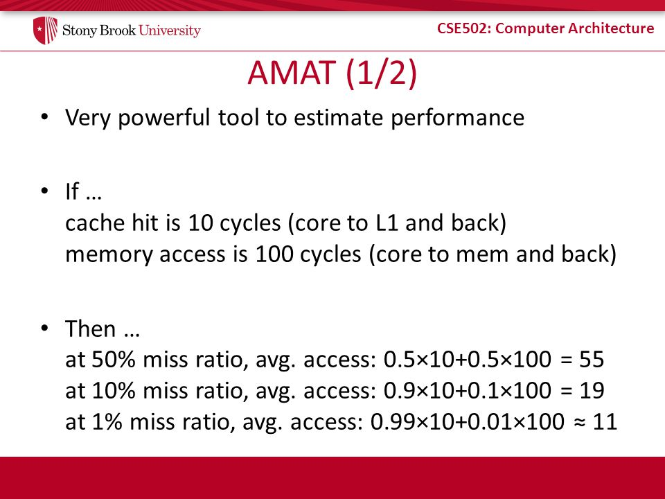 AMAT (1/2) Very powerful tool to estimate performance