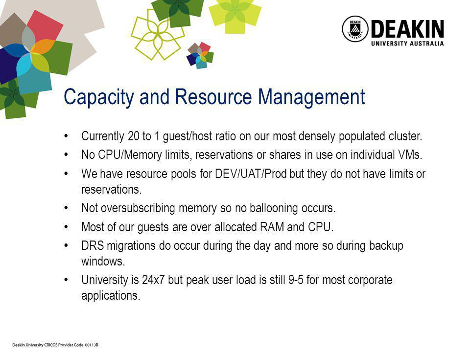 Capacity and Resource Management