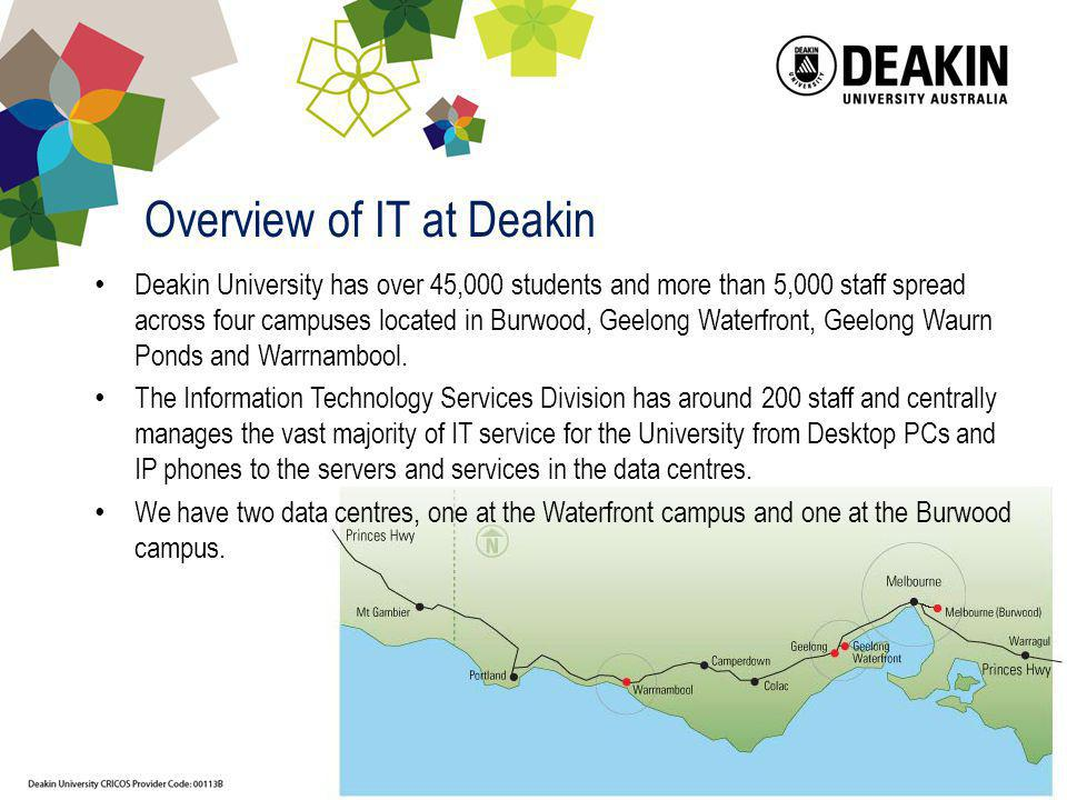 Overview of IT at Deakin