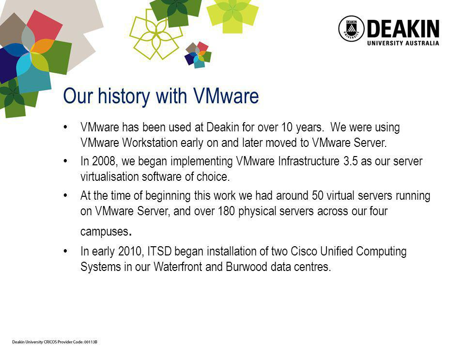 Our history with VMware