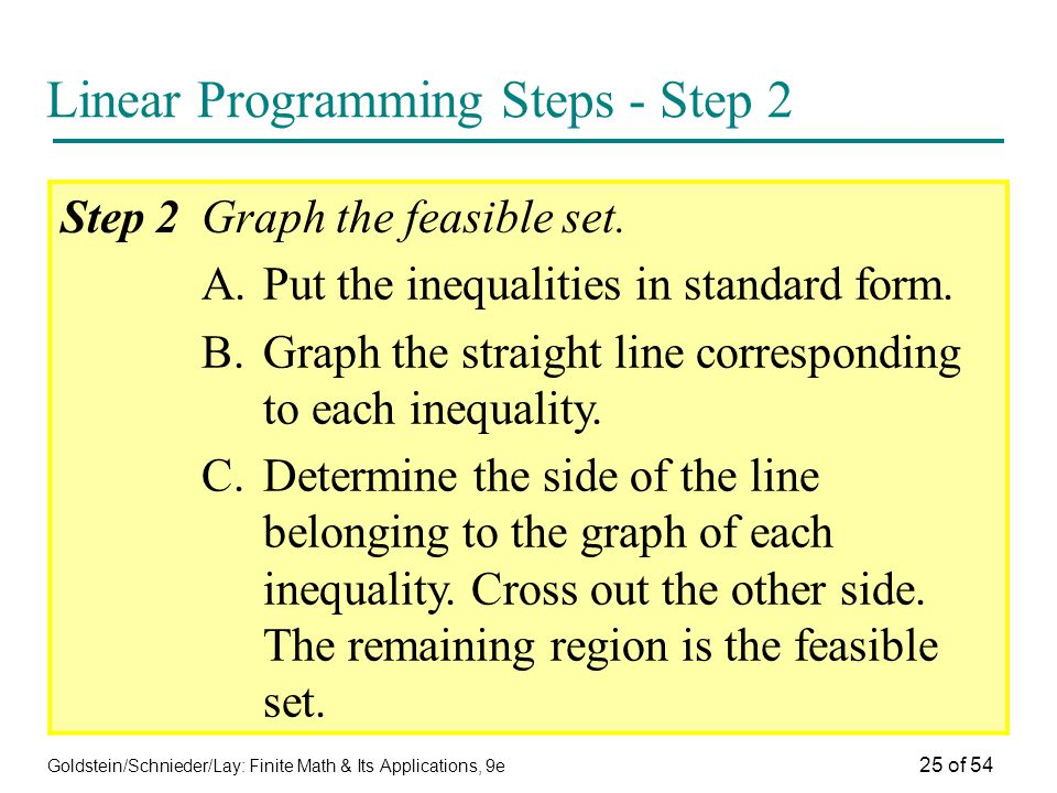 Linear Programming Steps - Step 2