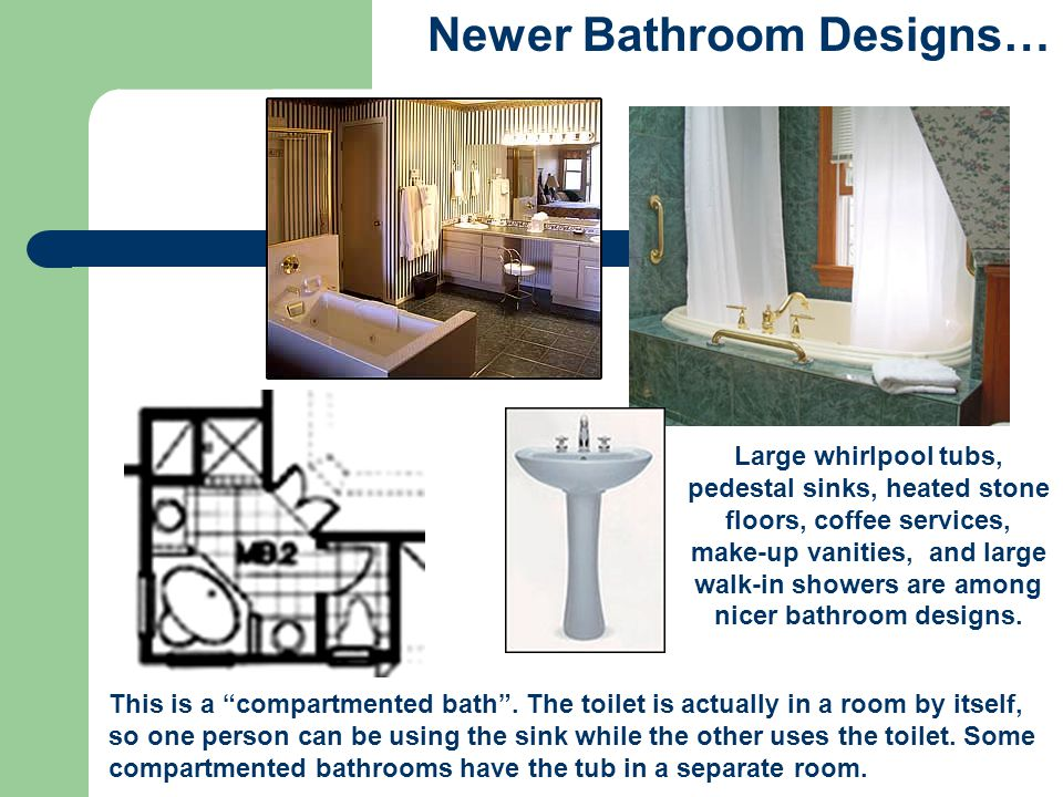 Newer Bathroom Designs…