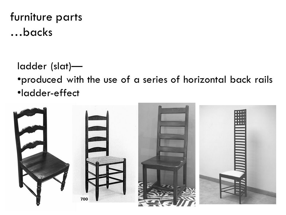 furniture parts …backs ladder (slat)—