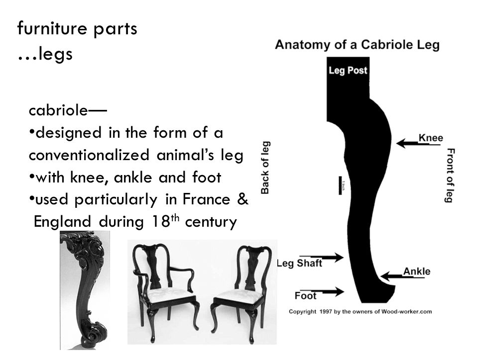 furniture parts …legs cabriole— designed in the form of a
