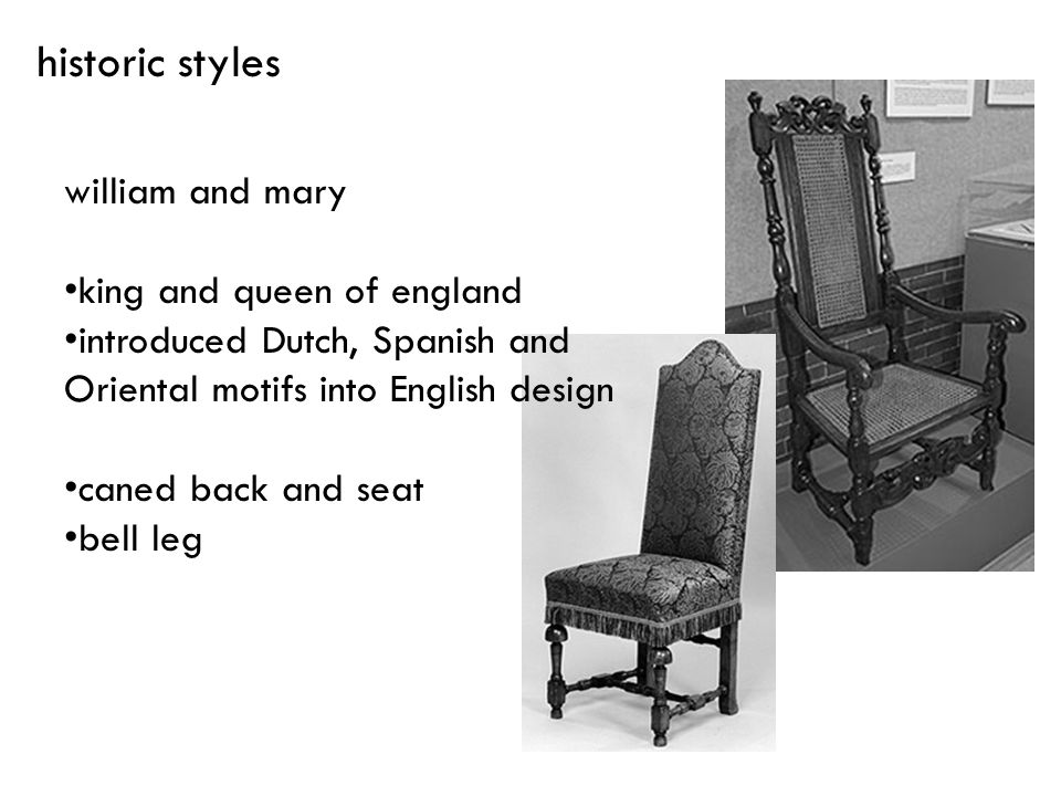 historic styles william and mary king and queen of england
