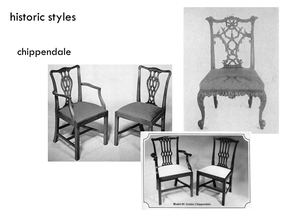 historic styles chippendale