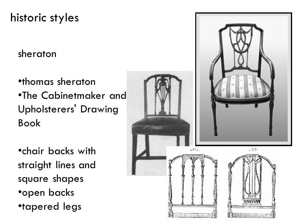 historic styles sheraton thomas sheraton