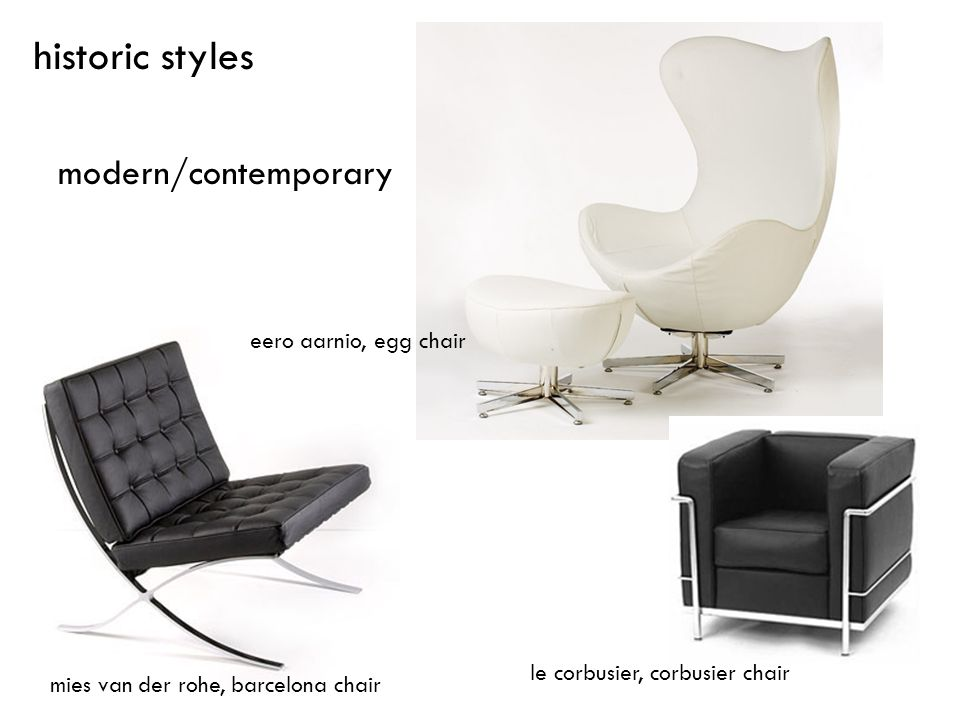 historic styles modern/contemporary eero aarnio, egg chair