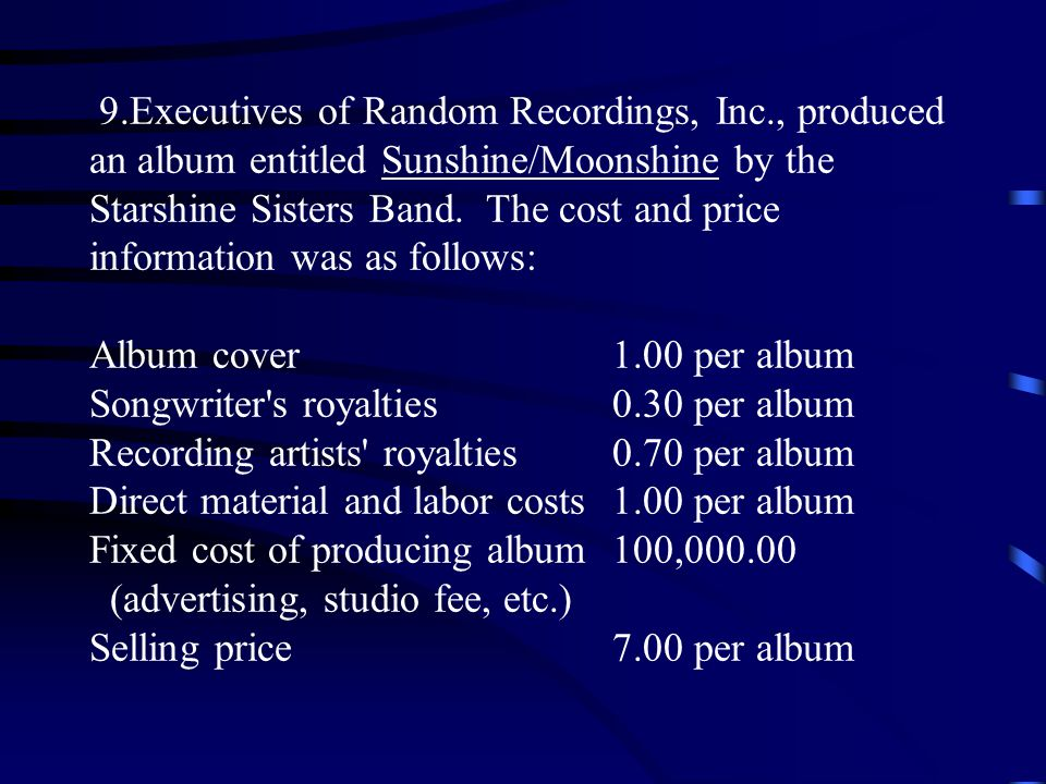 9. Executives of Random Recordings, Inc