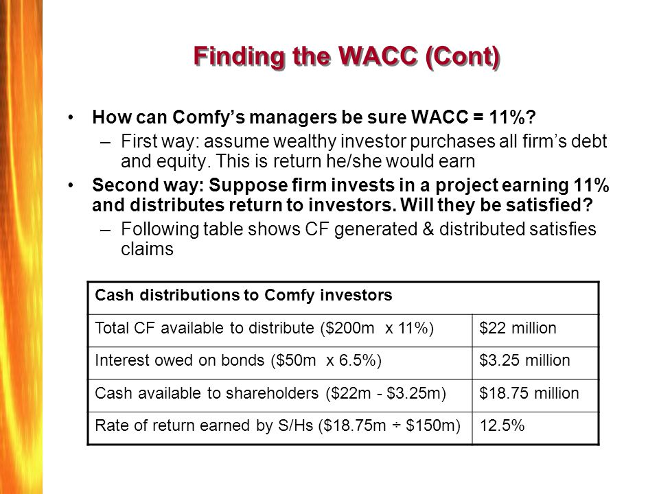 Finding the WACC (Cont)
