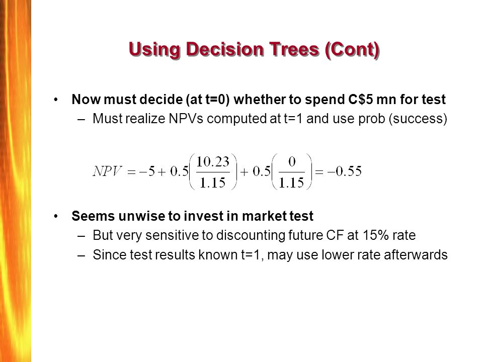 Using Decision Trees (Cont)