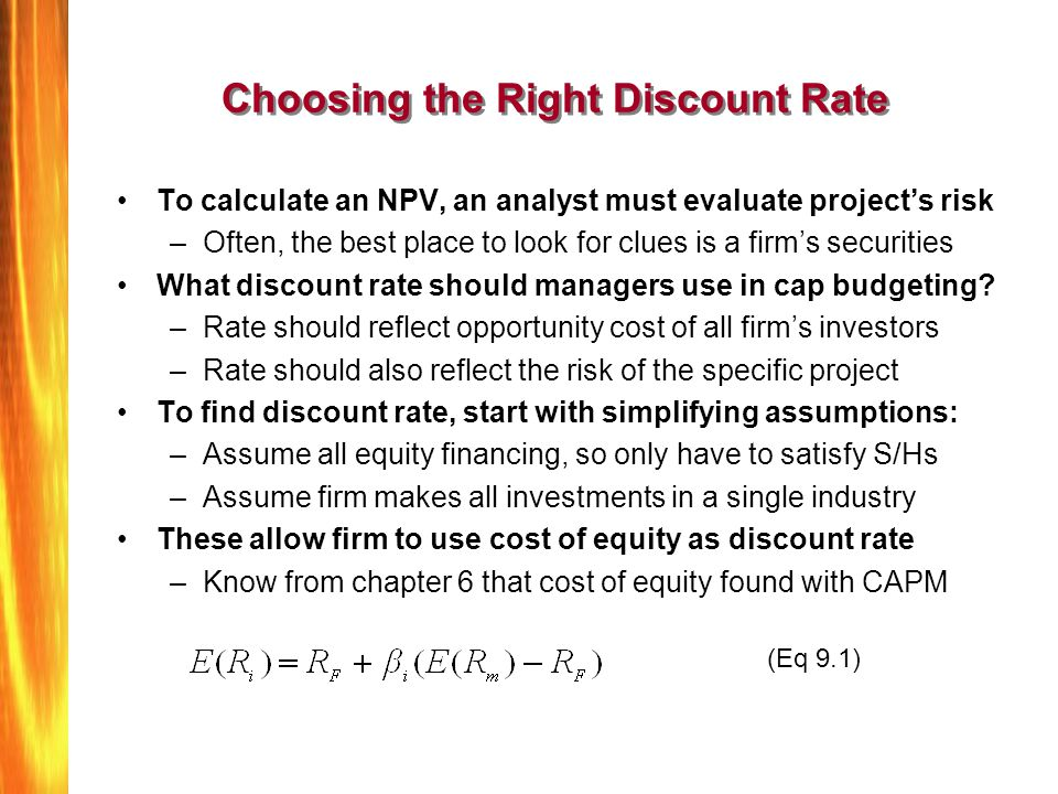 Choosing the Right Discount Rate