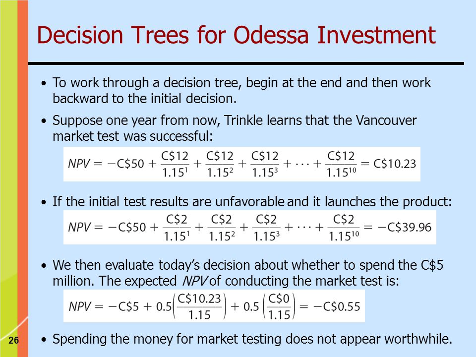 Decision Trees for Odessa Investment
