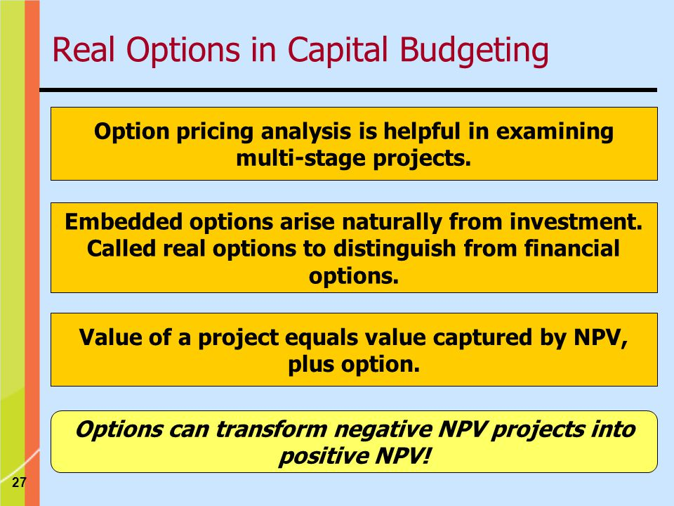 Real Options in Capital Budgeting