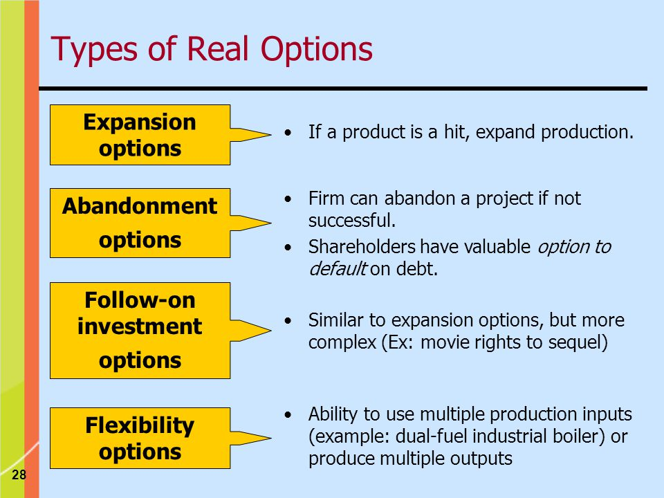 Follow-on investment options
