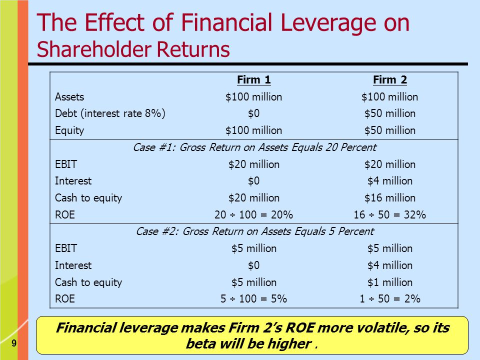 The Effect of Financial Leverage on Shareholder Returns