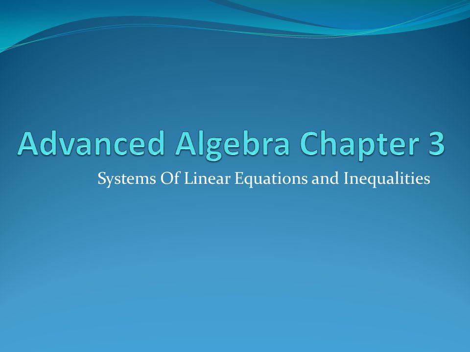 Advanced Algebra Chapter 3