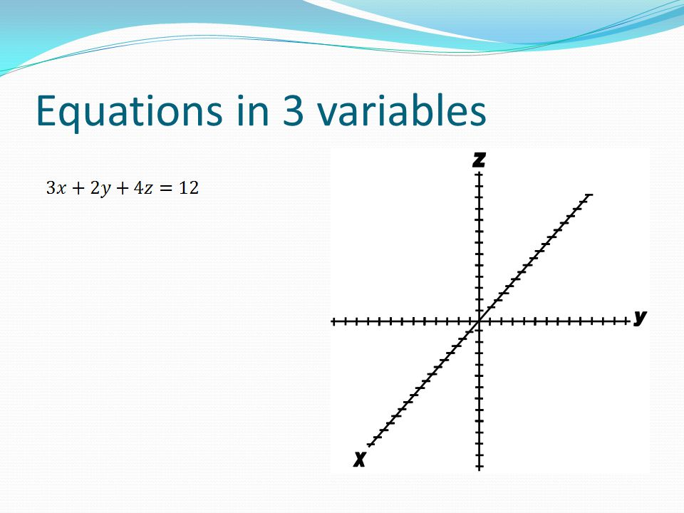 Equations in 3 variables