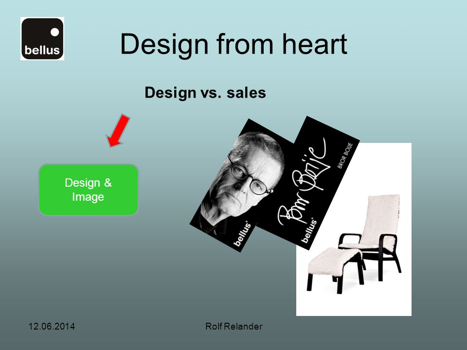 Design from heart Design vs. sales Design & Image