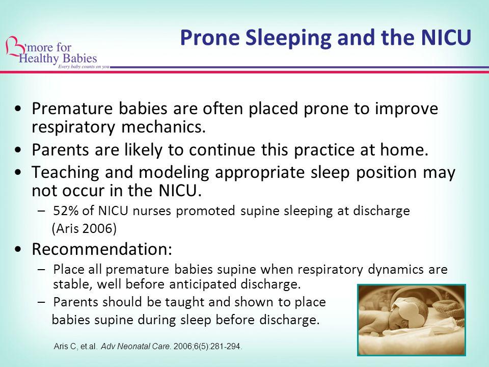 Prone Sleeping and the NICU